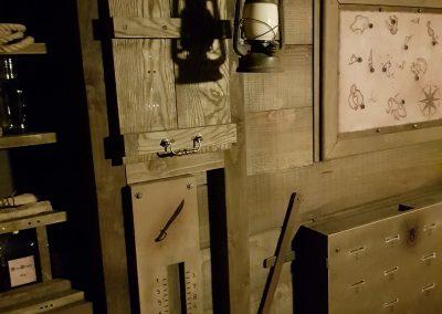 Intérieur bateau pirate escape game réalisé par Morgan BRUYNOOGHE.