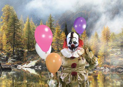 Oscar le clown, personnage maléfique chez zone secrète escape game